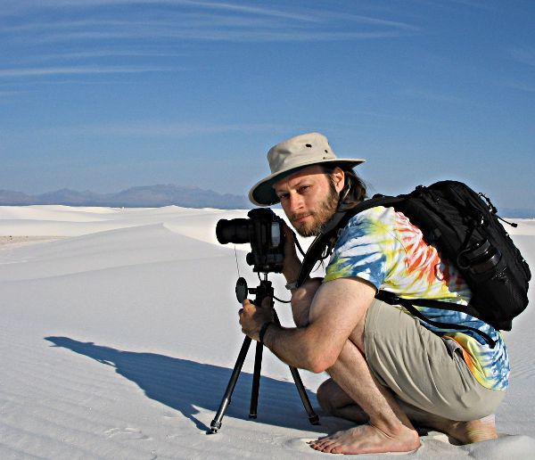 Eric at White Sands